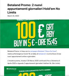 Betaland news