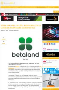 Betaland Malta: lotteria su siti scommesse oia services